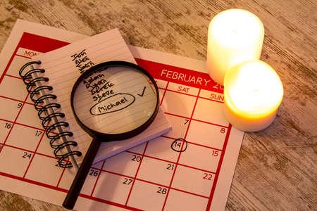 candlelit: Valentine Day, celebrating romance together Stock Photo