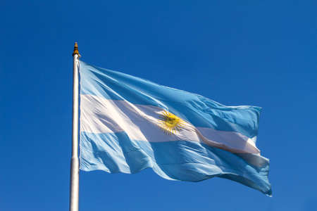 southamerica: A flattering argentinian flag in the sky