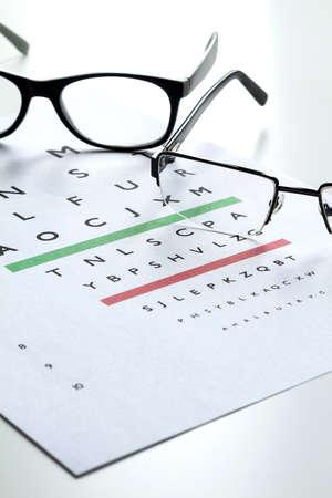 diopter: Eyes Examination, glasses diopter check up Stock Photo