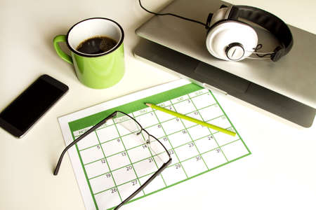 yearly: Organizing business and personal tasks and meetings