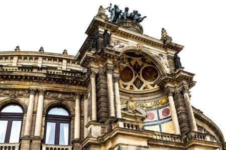 Opera building in Dresden , Germany