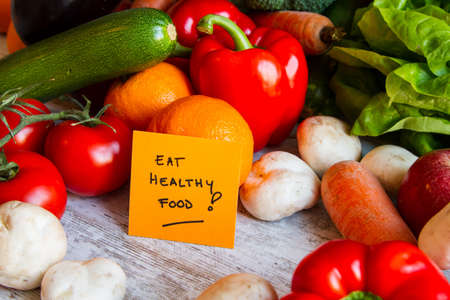 Eat healthy food,  vegetables and fruits photo