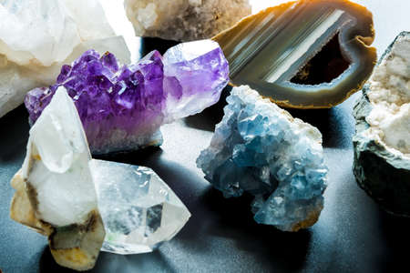 Group of semi precious stones