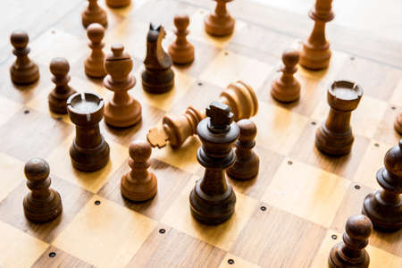 strategical: Playing chess and doing strategical moves Stock Photo