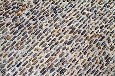 black pebbles: Brown and black pebbles floor background