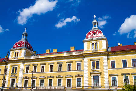napoca: Romanian facade in Cluj Napoca city