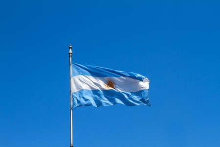 argentinian flag: A flattering argentinian flag in the sky