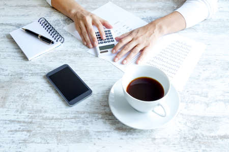 Accountant: Taking notes and analyzing numbers