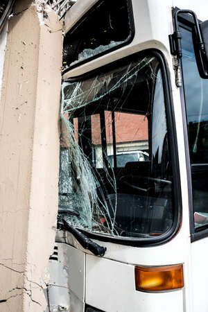 fatality: Bus crashed into a wall
