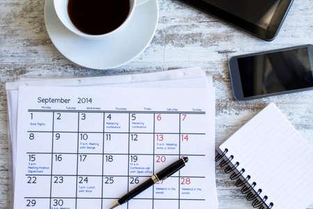 cronogramas: Comprobación de actividades mensuales y citas en la oficina