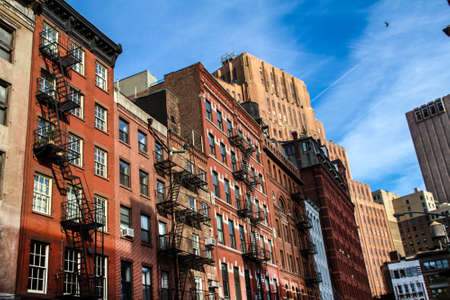 chelsea: Facade of New York in the Meatpacking District Stock Photo