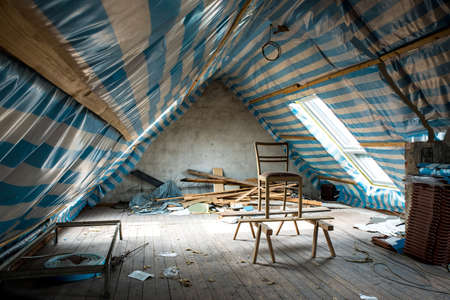 restoring: Restoring the attic of the house