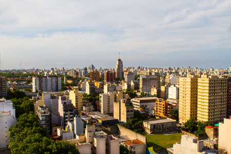 Aerial view of building in a neighborhood in Buenos Aires, Argentina Stock Photo