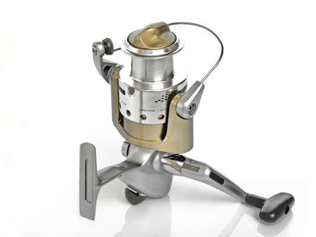 The Spinning reel for fishing photo