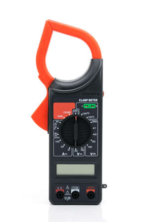 A high-resistance ohmmeter, voltmeter, ampermeter and thermometer. Stock Photo - 5811100