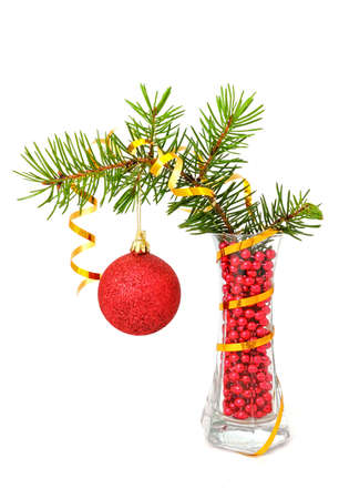 firry: Christmas tree decorations,  firry branch and deal apples