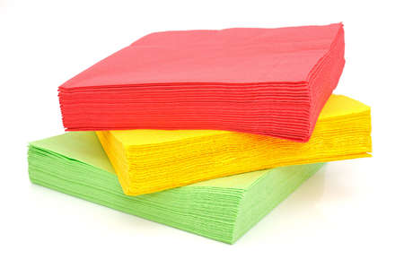 Paper napkins oh a white background