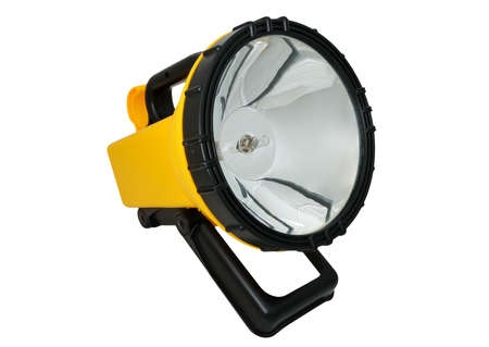 A high-power electric torch for hunting and fishing on a white background photo