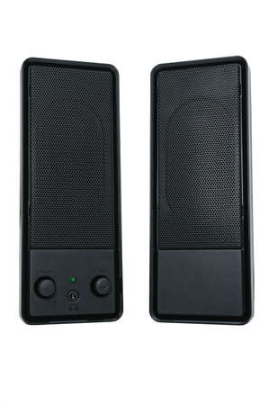 Stereo sound system. Audio system for mobile phones, computer and laptops with amplifier. photo