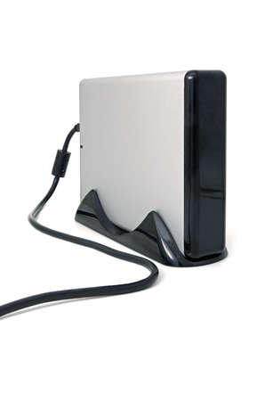 external hard disk drive: Winchester drive. External hard disk for a data storage. Stock Photo
