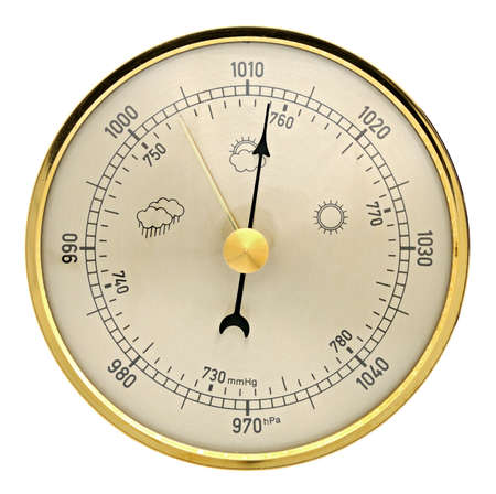 aneroid: Barometer on a white background
