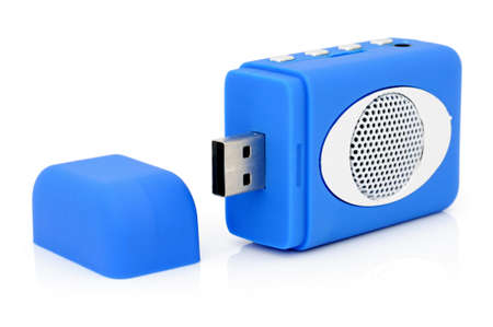 cardreader:  USB MP3-player with card-reader.  Stock Photo