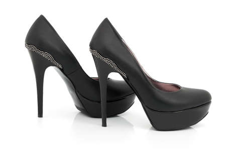 high heels: Female shoes high-heeled isolated on a white background Stock Photo