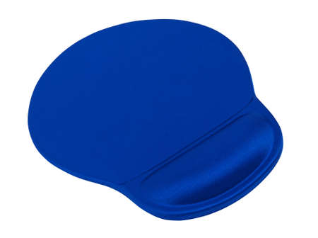 Ergonomic mouse pad with rest for wrist isolated on a white background