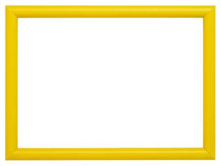 Yellow frame isolated on white background photo