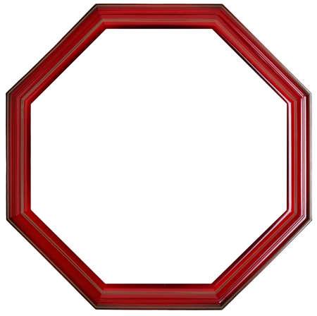 round border: Photo frame isolated on white background