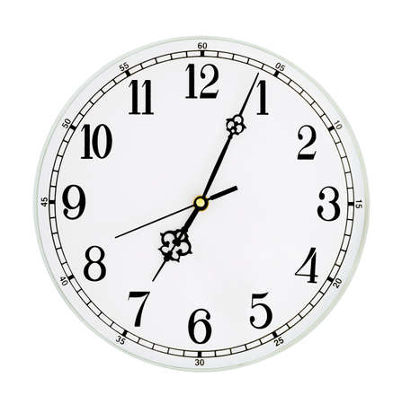 beat the clock: Clock isolated on white background