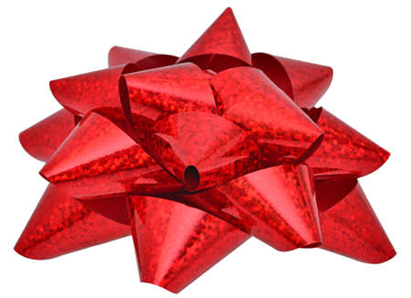 sealing tape: Red star for decorating gifts isolated on the white background