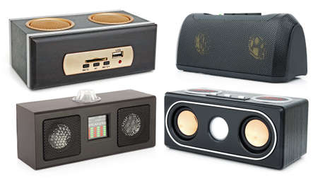 Speakers and MP3-player with card-reader and USB photo