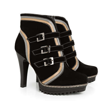 Demi-season women shoe 스톡 콘텐츠
