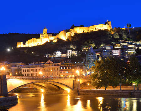Capital of Georgia - Tbilisi at night