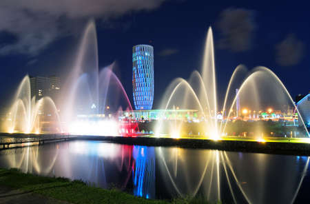 Light and music fountain  Capital of Adjara - Batumi at night