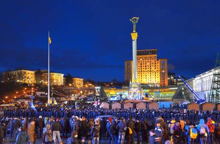 maidan: Maidan Nezalezhnosti. Kiev. Ukraine. Independence sguare. Majdan. Kyiv. December 2013