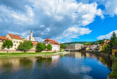 Czech Krumlov - small city in the South Bohemian Region of the Czech Republic  Cesky Crumlaw on the Vltava River photo
