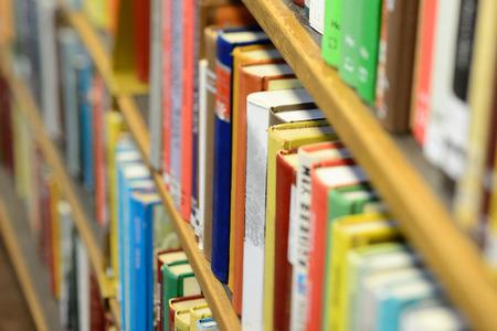 book reading: Books in shelf