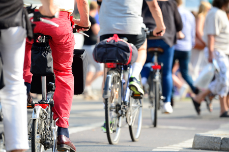 Crowd of bikes Banque d'images