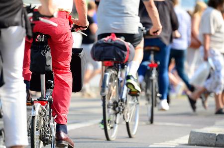 Foule de vélos Banque d'images