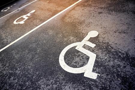 stationnement pour les handicapés