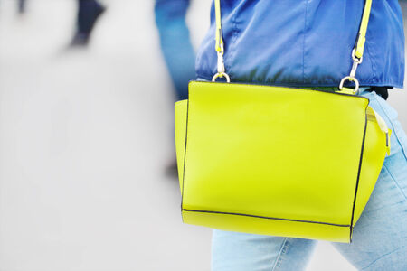 woman handle success: Woman and her bag