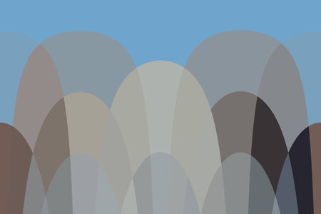 Abstract curvy pattern, loopable horizontally. Earth and sky colors, based on actual picture
