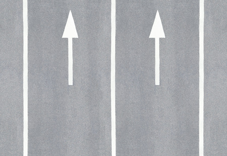 Arrows and lane markings Stock Photo