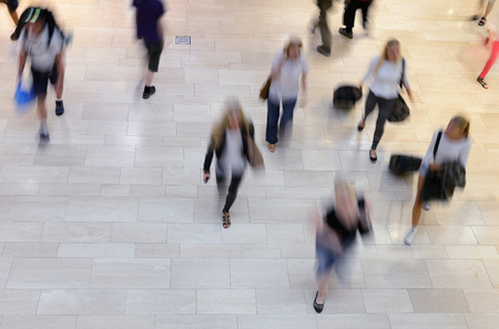 Pedestrians on zebra crossing