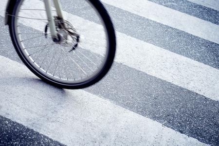 zebra crossing: Bike on zebra crossing