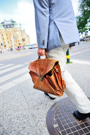 Business man on his way home Stock Photo