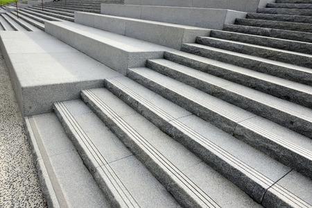 Stone Stairs Sideways Stock Photo