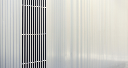 building sector: Detail of metal facade